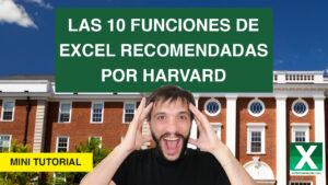10 funciones de excel que Harvard recomienda aprender
