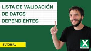 lista de validación de datos dependientes